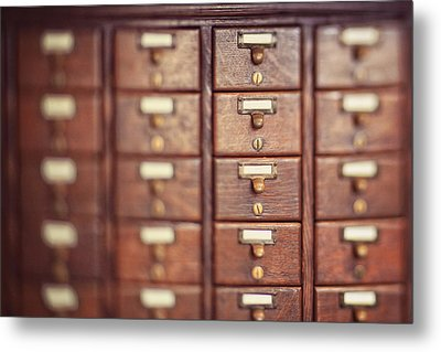 Metal Print featuring the photograph Library Case by Heather Green