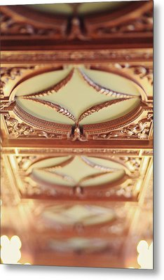 Library Ceiling Metal Print by Heather Green