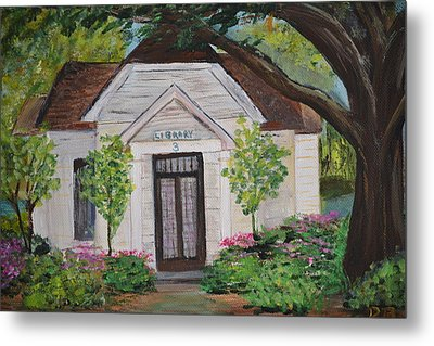 Metal Print featuring the painting Library by Debbie Baker