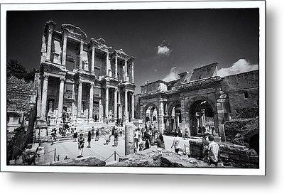 Library Of Celsus - Ephesus Metal Print by Stephen Stookey