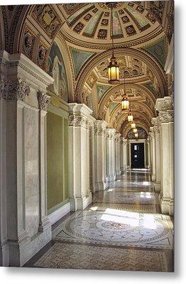 Library Of Congress Hallway Washington Dc Metal Print by Mary Lee Dereske