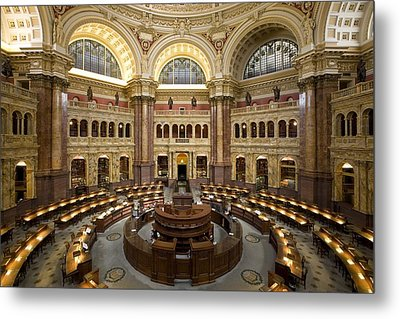 Library Of Congress Metal Print by Mountain Dreams