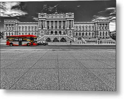 Metal Print featuring the photograph Library Of Congress by Peter Lakomy