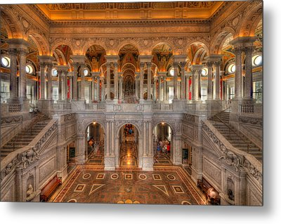 Library Of Congress Metal Print by Steve Gadomski
