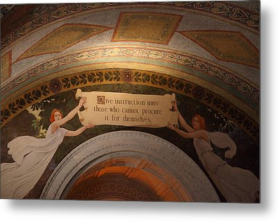 Library Of Congress - Washington Dc - 01135 Metal Print by DC Photographer
