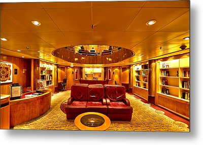 Library On Royal Caribbean Adventures Of The Seas Metal Print