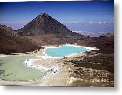 Licancabur Volcano And Laguna Verde Metal Print by James Brunker