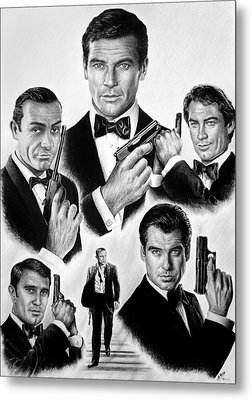 Licence To Kill  Bw Metal Print by Andrew Read