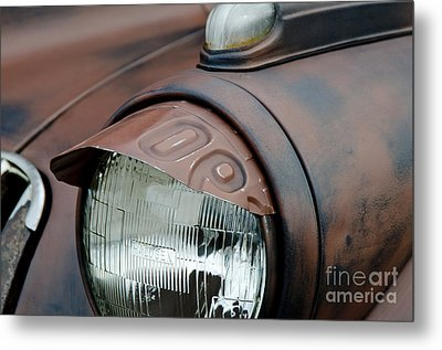 License Tag Eyebrow Headlight Cover  Metal Print by Wilma  Birdwell