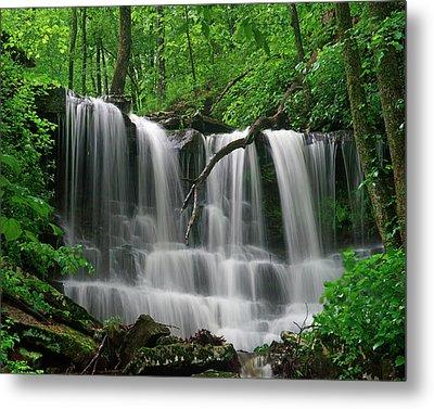 Lichen Falls, Ozark Mountains, Arkansas Metal Print