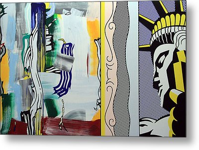 Lichtenstein's Painting With Statue Of Liberty Metal Print by Cora Wandel