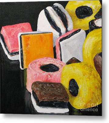 Licorice Candy Metal Print by Nancie Johnson