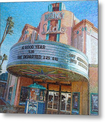 Lido Theater Metal Print by Mia Tavonatti