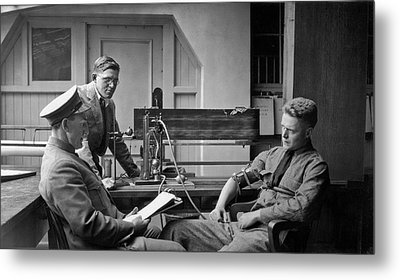 Lie Detector Test Metal Print by Underwood Archives