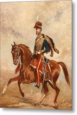 Lieutenant Colonel James Thomas Brudenell  Metal Print by Alfred de Prades