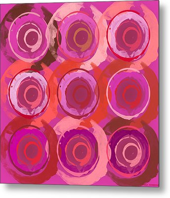 Metal Print featuring the digital art Life Circles by Lisa Noneman
