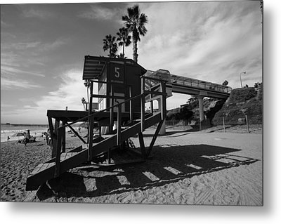 Life Guard Stand Metal Print by Paul Scolieri