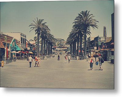 Life In A Beach Town Metal Print