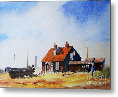 Metal Print featuring the painting Life In Dungeness by Beatrice Cloake
