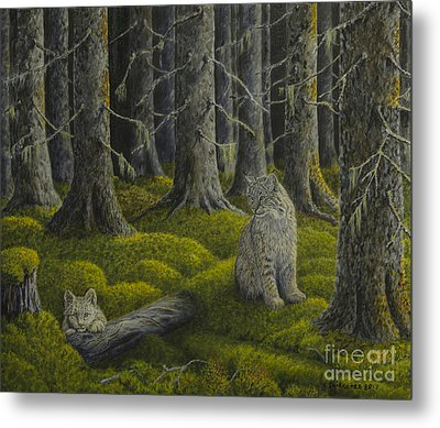 Life In The Woodland Metal Print