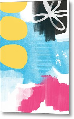 Life Is A Celebration-abstract Art Metal Print by Linda Woods