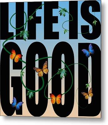 Life Is Good  Metal Print by Mark Ashkenazi