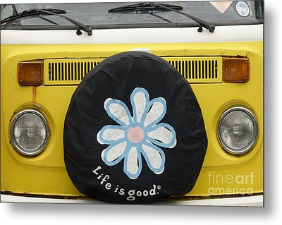 Life Is Good With Vw Metal Print