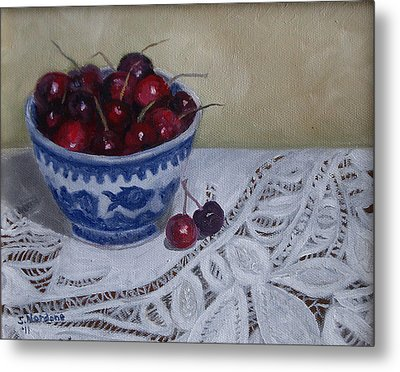 Life Is Just A Bowl Of Cherries Metal Print by Sandra Nardone