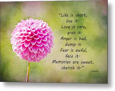 Life Is Short Metal Print