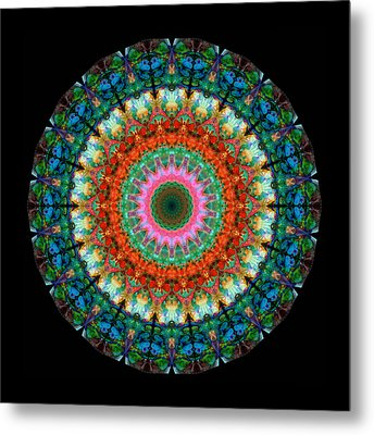 Life Joy - Mandala Art By Sharon Cummings Metal Print
