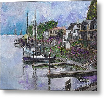 Alameda Life On The Estuary Metal Print by Linda Weinstock