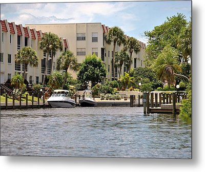 Life On The Intracoastal Metal Print