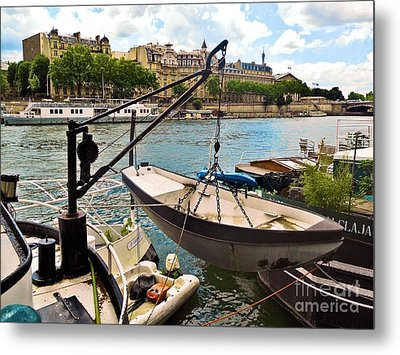 Life On The Seine Metal Print by Lauren Leigh Hunter Fine Art Photography