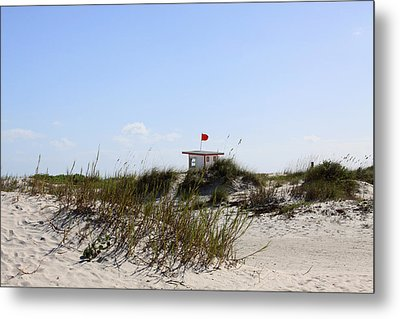 Metal Print featuring the photograph Lifeguard Station by Chris Thomas