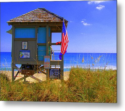 Metal Print featuring the photograph Lifeguard by Artists With Autism Inc