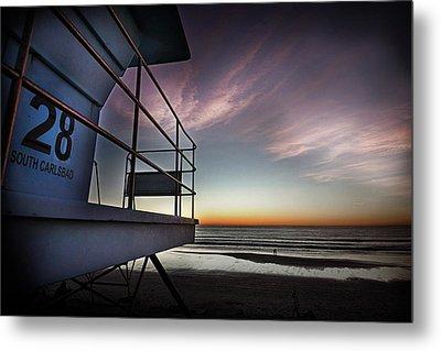 Lifeguard Tower Series - 21 Metal Print