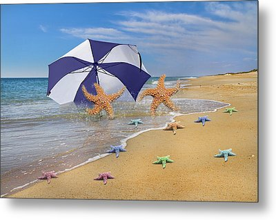 Life's A Beach Metal Print by Betsy Knapp