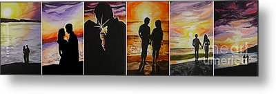 Metal Print featuring the painting Life's A Beach by Tamir Barkan