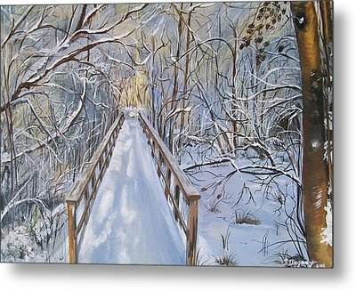 Life's  Path Metal Print by Sharon Duguay