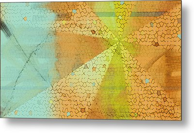 Metal Print featuring the digital art Light And Color Layers by Constance Krejci