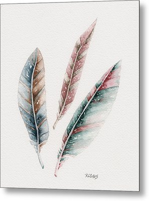 Metal Print featuring the painting Light As A Feather by Rebecca Davis