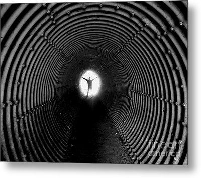 Light At The End Of The Tunnel? Metal Print by C Lythgo