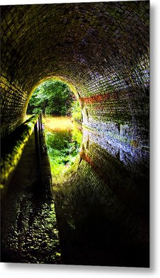 Metal Print featuring the photograph Light At The End Of The Tunnel by Meirion Matthias