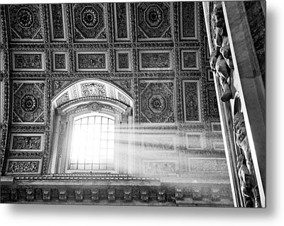 Light Beams In St. Peter's Basillica Metal Print