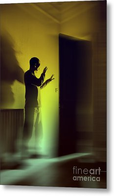 Metal Print featuring the photograph Light Behind Door by Craig B