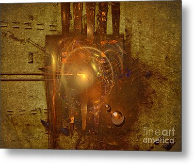 Metal Print featuring the painting Light Clock by Alexa Szlavics