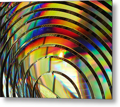 Light Color 2 Prism Rainbow Glass Abstract By Jan Marvin Studios Metal Print