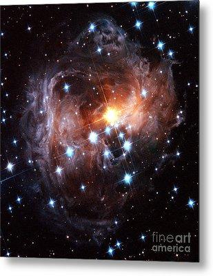 Light Echo Around Star V838 Monocerotis Metal Print by Science Source