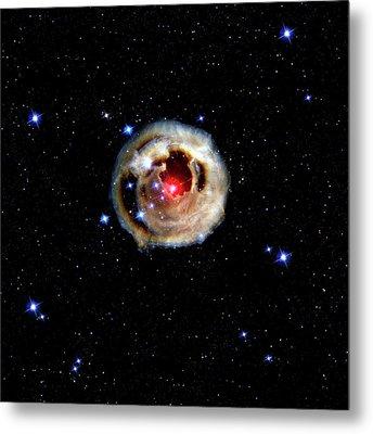 Light Echoes From Exploding Star Metal Print by Nasa/esa/stsci/h.bond/detlev Van Ravenswaay