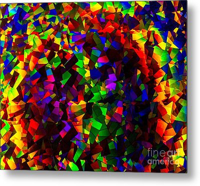 Light Emitting Diode Confetti Metal Print by Imani  Morales